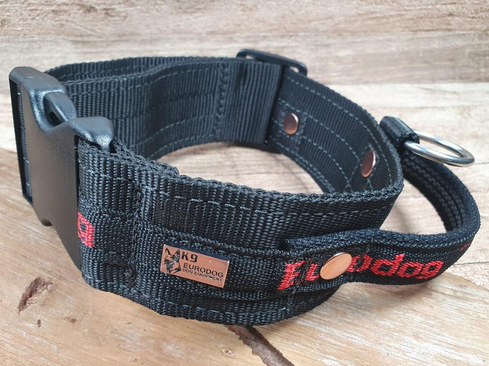 Collare in Nylon Taglia Regolabile con Maniglia per Addestramento Cani eurodog